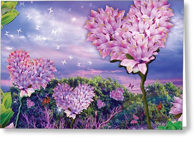 Alixandra Mullins Greeting Cards - Love Garden 3 Greeting Card by Alixandra Mullins