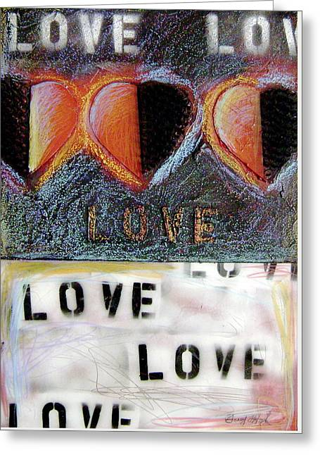 All Around Greeting Cards - Love Greeting Card by Gerry High