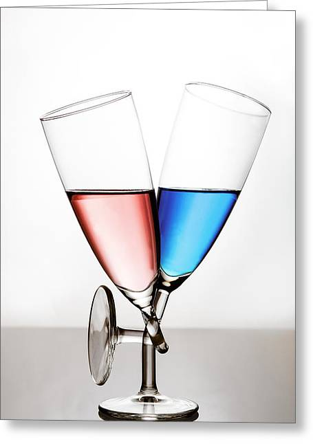 Champagne Glasses Greeting Cards - Love Greeting Card by Gert Lavsen