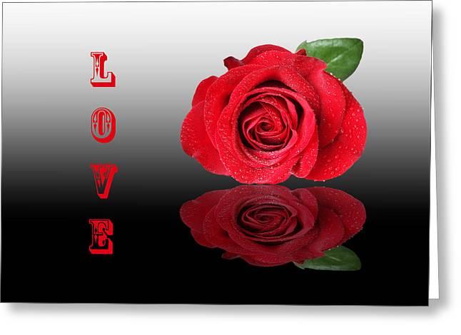Love Greeting Card by Gill Billington