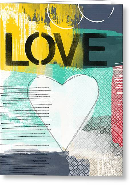 Teen Greeting Cards - Love Graffiti Style- Print or Greeting Card Greeting Card by Linda Woods