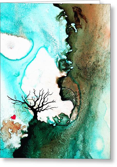 Zen Artwork Greeting Cards - Love Has No Fear - Art By Sharon Cummings Greeting Card by Sharon Cummings
