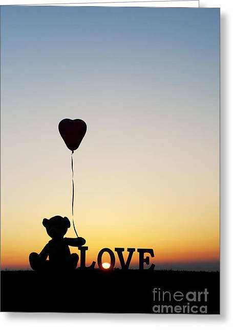 Child Toy Greeting Cards - Love Heart Bear Greeting Card by Tim Gainey