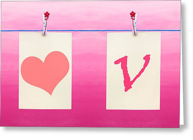 Blank Card Greeting Cards - Love Heart Greeting Card by Semmick Photo