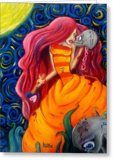 Black Widow Paintings Greeting Cards - Love Hurts Greeting Card by Kayla Ellsworth
