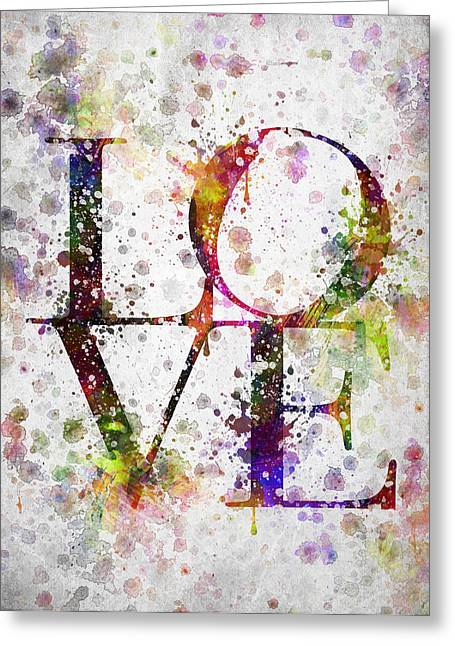 Signed Digital Greeting Cards - Love in Color Greeting Card by Aged Pixel