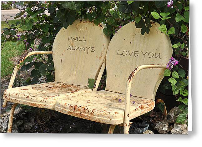 I Will Always Love You Greeting Cards - Love in the Garden Greeting Card by Deb Wight