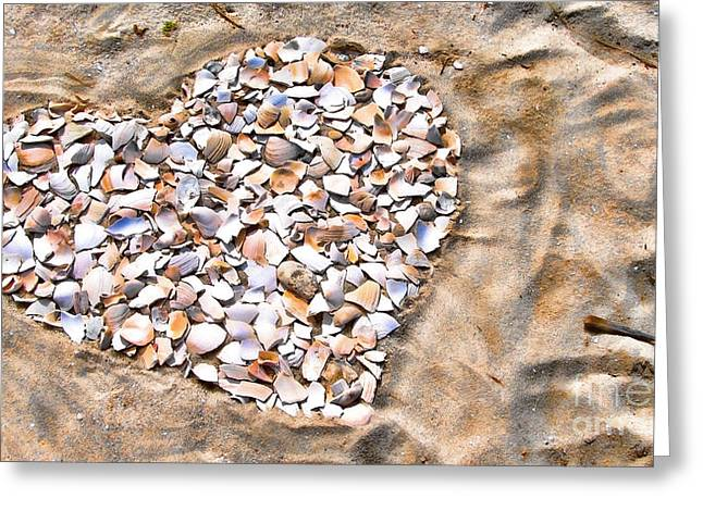 Original Photographs Greeting Cards - Love in the Sand Greeting Card by Colleen Kammerer