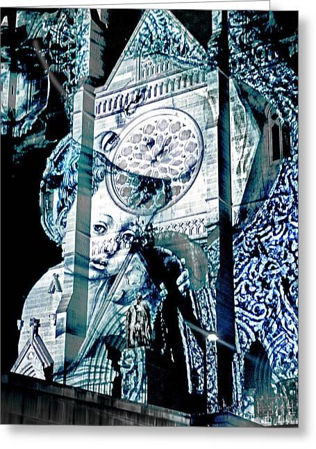 Catherdral Greeting Cards - Love In Their Eyes Greeting Card by Miroslava Jurcik