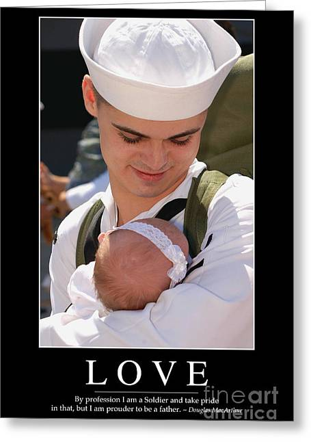 Sailor Hat Greeting Cards - Love Inspirational Quote Greeting Card by Stocktrek Images