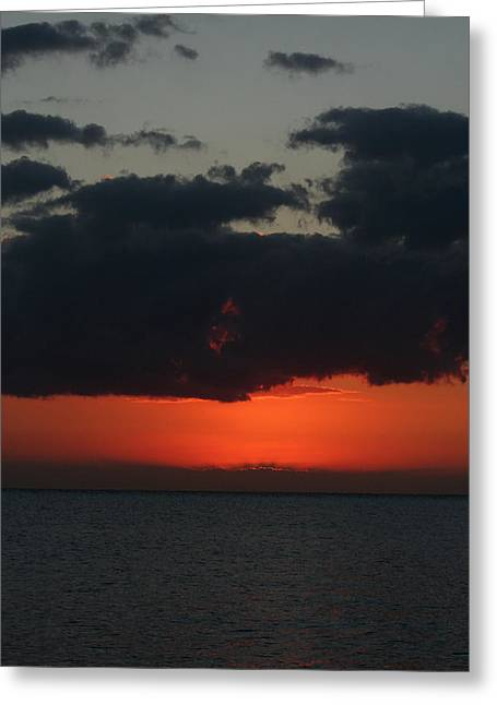 Dark Clouds. Greeting Cards - Love is a Burning Thing Greeting Card by Laurie Search