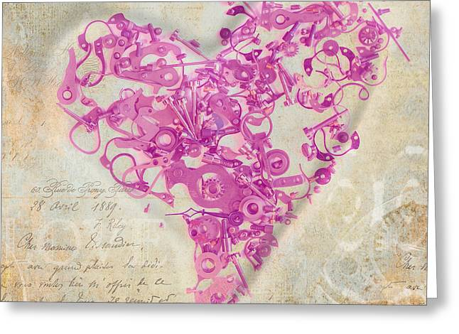 Component Digital Art Greeting Cards - Love Is A Gift Greeting Card by Fran Riley