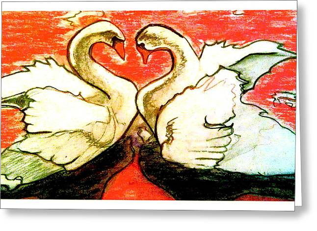 Valentines Day Pastels Greeting Cards - Love Is Action Greeting Card by D Renee Wilson