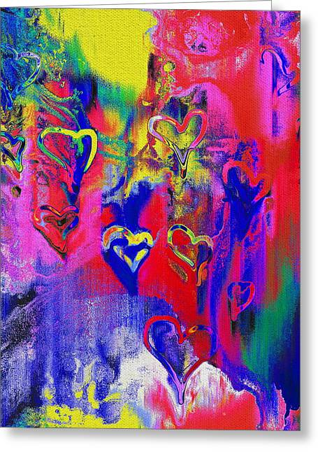 All Around Greeting Cards - Love Is All Around Greeting Card by Kume Bryant