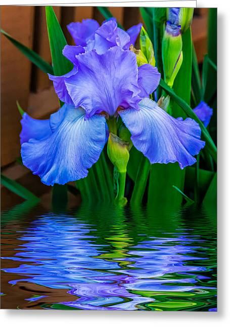 Flood Digital Greeting Cards - Love Is Blue 2 Greeting Card by Steve Harrington