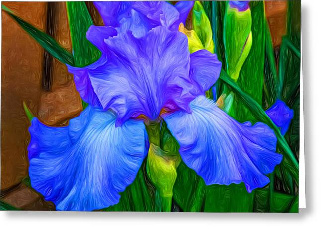Paint Photograph Greeting Cards - Love Is Blue - Paint 2 Greeting Card by Steve Harrington