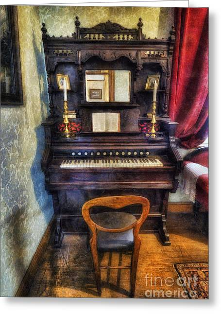 Clef Greeting Cards - Love Is Called My Old Piano Greeting Card by Ian Mitchell