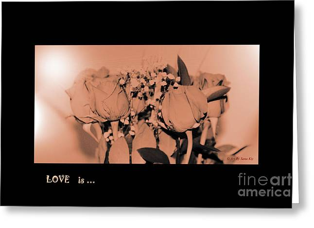 Amazing Greeting Cards - LOVE is... Collection 2. Romantic Greeting Card by Oksana Semenchenko