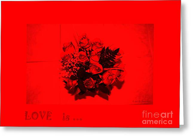 Love Is... Collection 5. Passion Greeting Card by Oksana Semenchenko