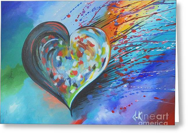 Destiny Drawings Greeting Cards - Love is Everything Greeting Card by David Keenan