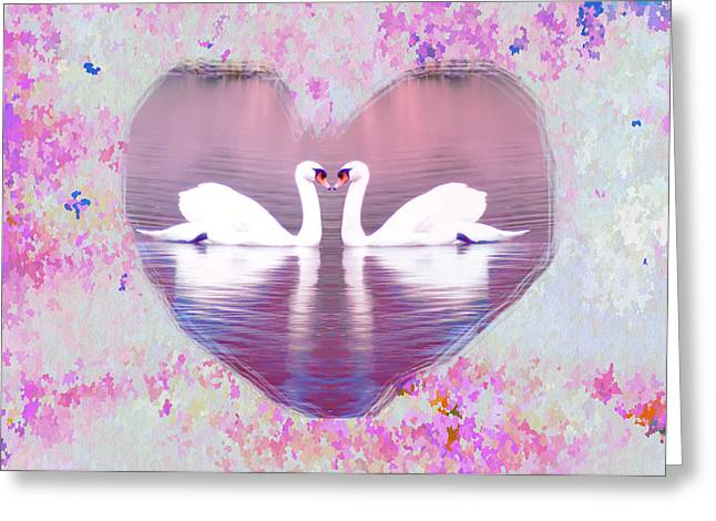 Ducklings Digital Greeting Cards - Love is Everywhere Greeting Card by Bill Cannon