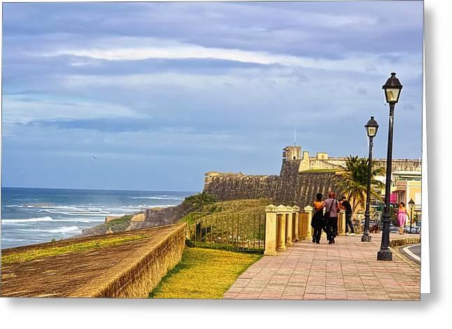 Love Is In The Air At Old San Juan Greeting Card by Sandra Pena de Ortiz