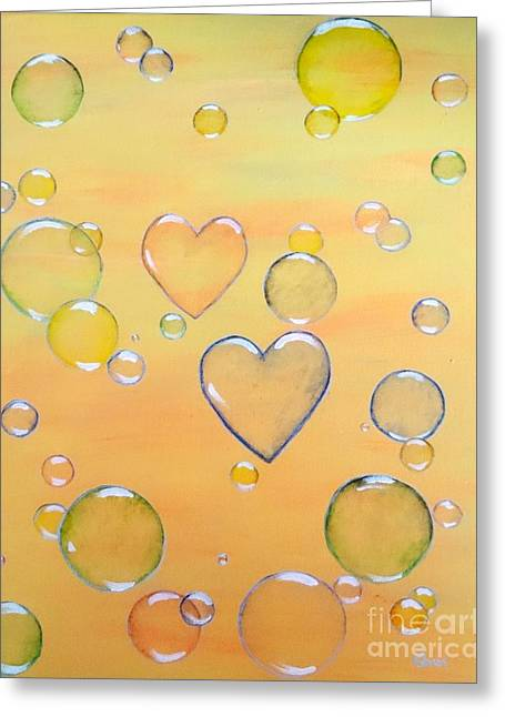 First Love Greeting Cards - Love is in the Air Greeting Card by Karen J Jones