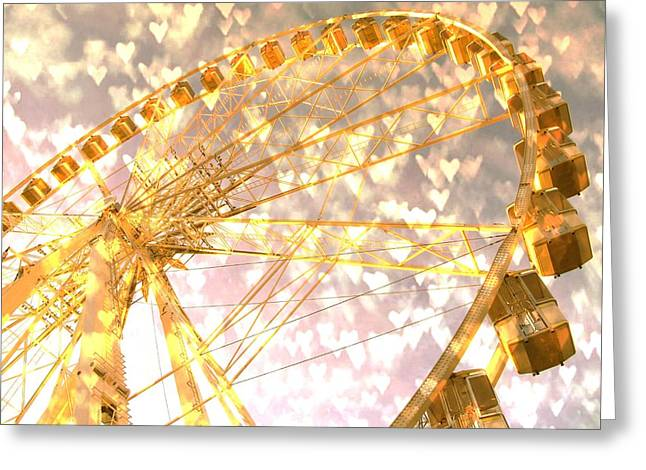Theme Parks Greeting Cards - Love is in the Air Greeting Card by Marianna Mills