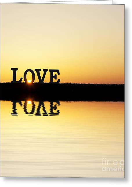 Day Photographs Greeting Cards - Love Is Its Own Reflection Greeting Card by Tim Gainey