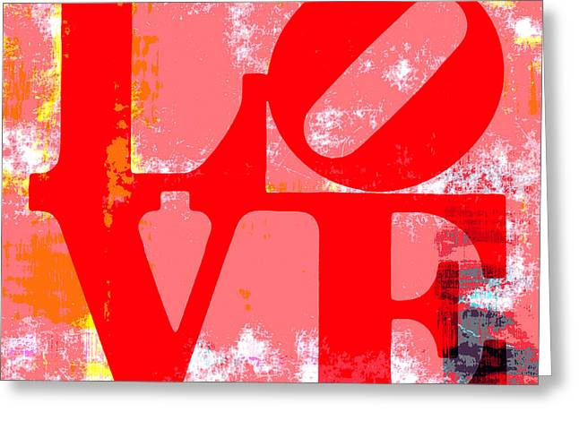Philly Mixed Media Greeting Cards - Love is Love. Greeting Card by Brandi Fitzgerald