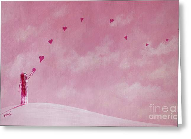 Pale Pink Greeting Cards - Love Is The Best Forever Gift Collection by Shawna Erback Greeting Card by Shawna Erback