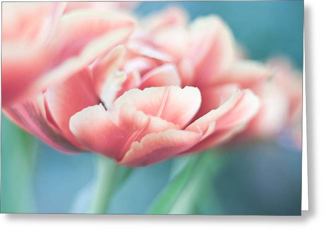 Cool Tones Greeting Cards - Love Is The Flower of Life Greeting Card by Robin Konarz