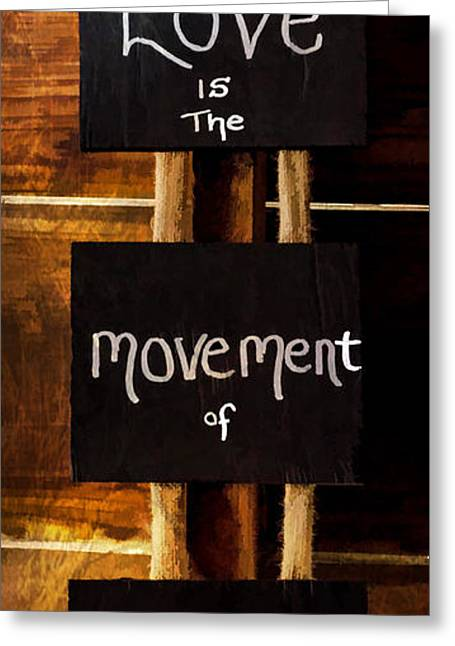 Old Barns Greeting Cards - Love Is The Movement Of Life Greeting Card by Jordan Blackstone