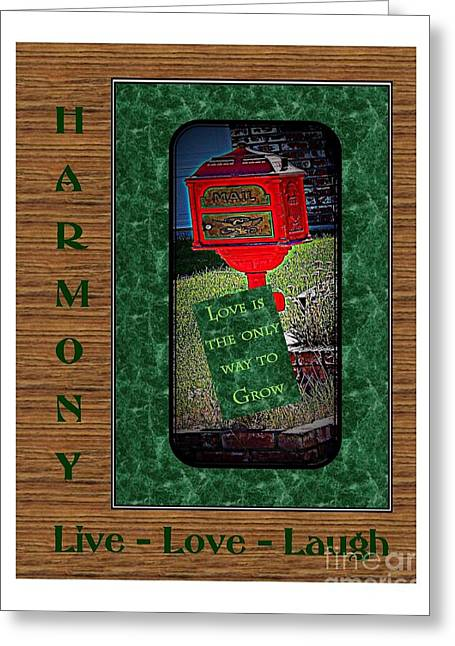 Graphics Framed Prints Greeting Cards - Love Is The Only Way Greeting Card by Bobbee Rickard