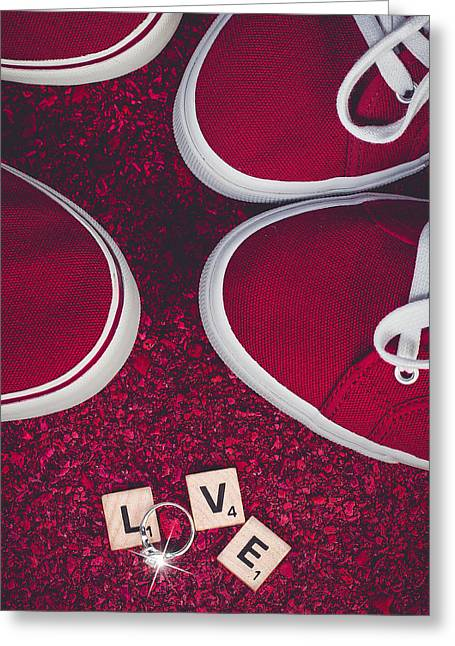 Sneaker Love Greeting Cards - Love is...Neater Than Sneakers Greeting Card by David Johnson