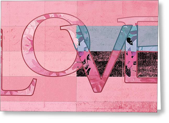 Love Letter Greeting Cards - LOVE - j249115131t-vb Greeting Card by Variance Collections