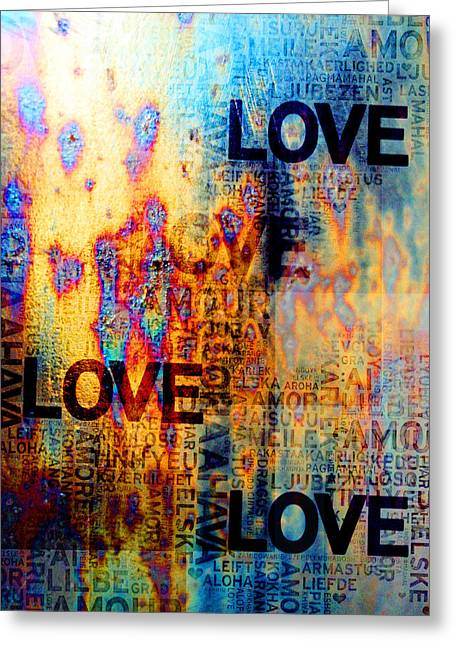 Love Greeting Card by Jenny Rainbow