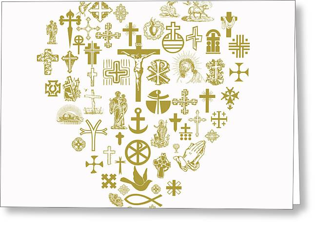 Religious Pictures Digital Art Greeting Cards - Love Jesus Greeting Card by Viv Griffiths