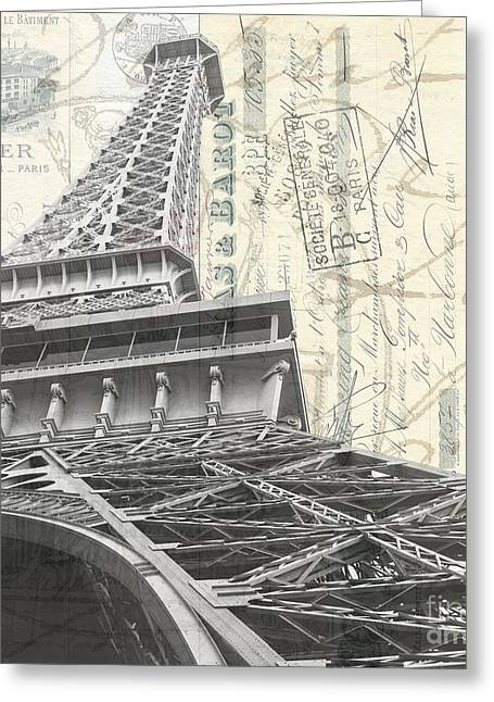 City Restaurants Greeting Cards - Love letter from Paris Square Greeting Card by Edward Fielding