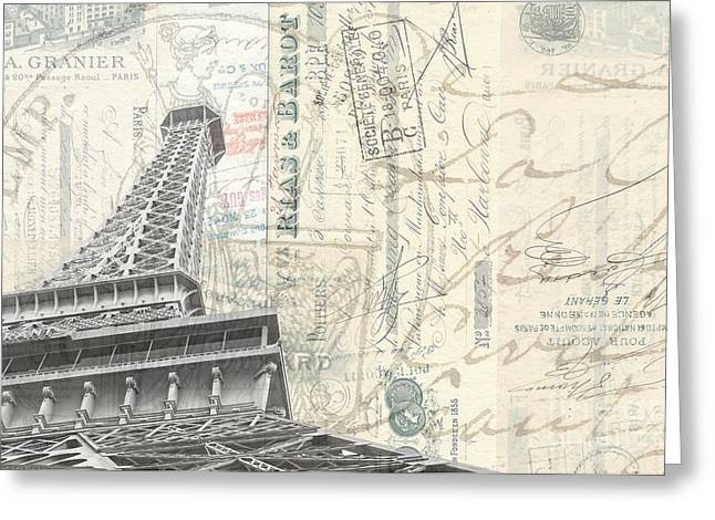 Love Letter Photographs Greeting Cards - Love letter from Paris Wide Greeting Card by Edward Fielding