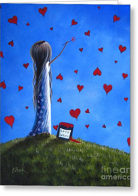 Precious Paintings Greeting Cards - Love Letters by Shawna Erback  Greeting Card by Shawna Erback