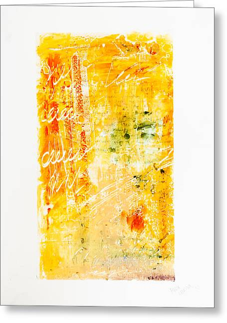 Large Scale Mixed Media Greeting Cards - Love Letters Greeting Card by Maria  Lankina