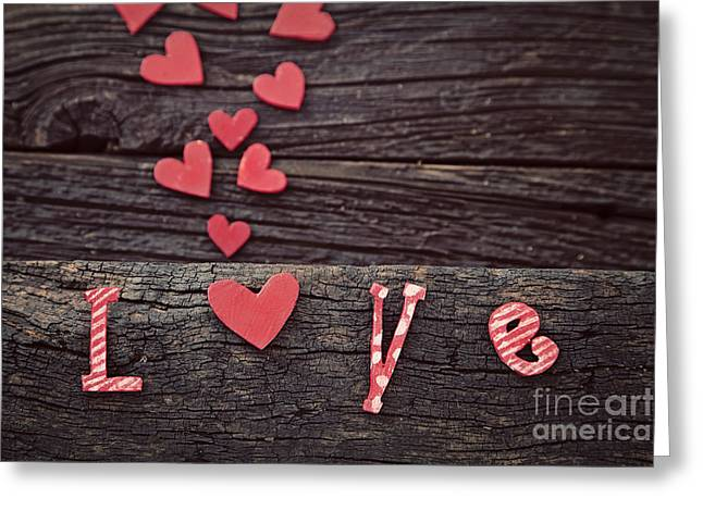Beautiful Day Greeting Cards - Love letters Greeting Card by Mythja  Photography