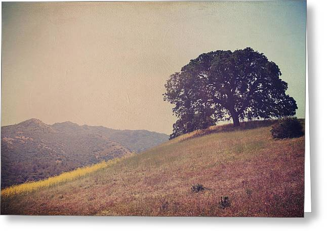 Hilltop Greeting Cards - Love Lifts Us Up Greeting Card by Laurie Search