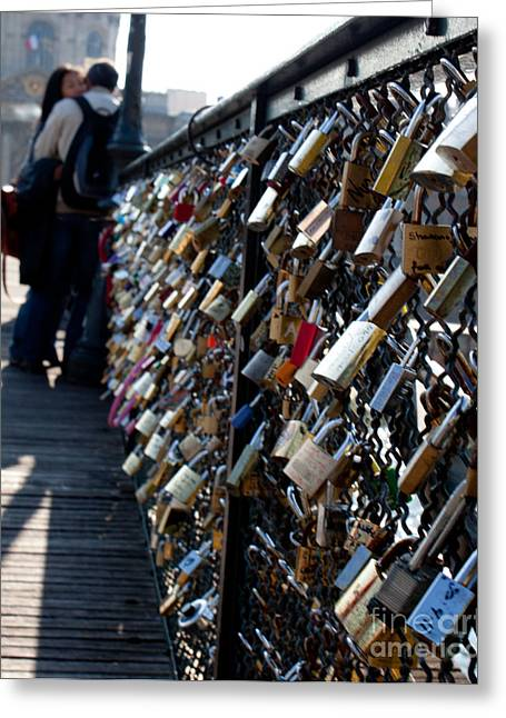 John Daly Greeting Cards - Love Locks Greeting Card by John Daly