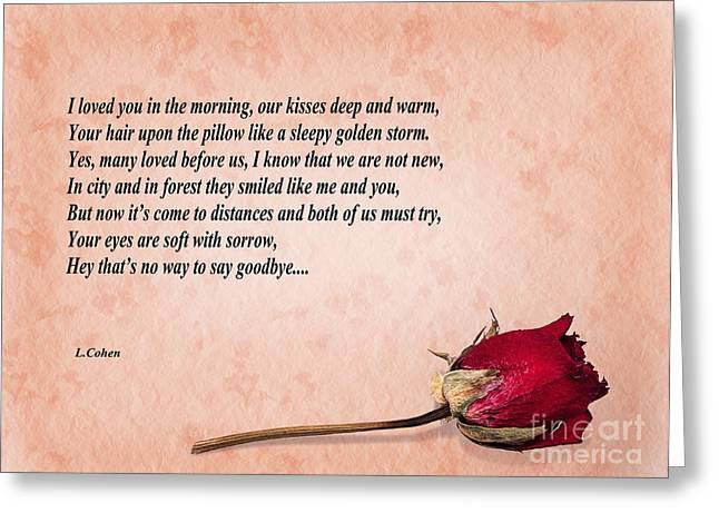 In Memoriam Greeting Cards - Love lost faded rose  Greeting Card by Judith  Flacke