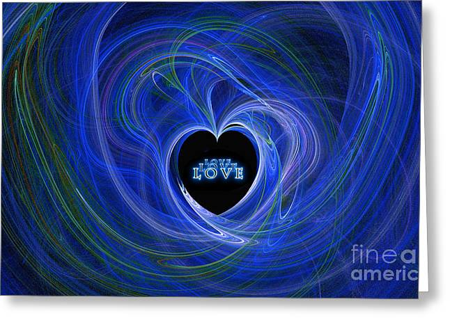 Digital Artery Greeting Cards - Love - Love - Love Greeting Card by Kaye Menner