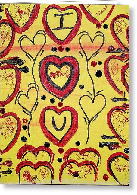 Ly Greeting Cards - Love-ly Celebration Greeting Card by Akshatha Karthik