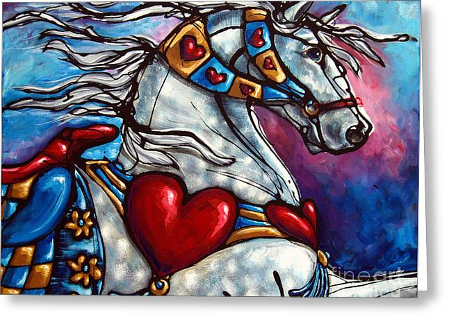 Paso Fino Horse Greeting Cards - Love Makes the World go Round Greeting Card by Jonelle T McCoy