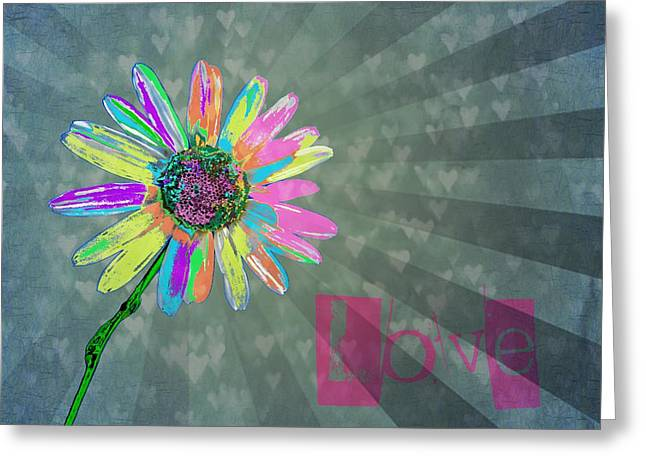 Graphic Digital Art Greeting Cards - Love Greeting Card by Marianna Mills